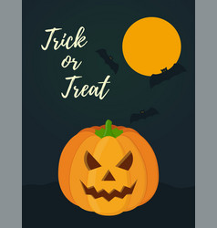 halloween card for celebration holiday vector image