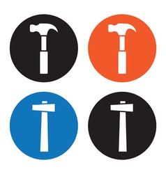 Hammer icons vector image