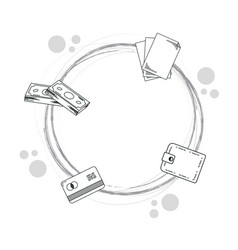 hand draw money cartoons vector image