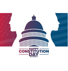 happy constitution day and citizenship day vector image