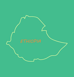 high detailed map - ethiopia vector image