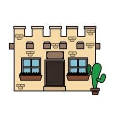 Isolated mexican building design vector image