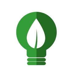 Leaf bulb ecology nature save icon graphic vector