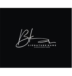Letter bk signature logo template vector