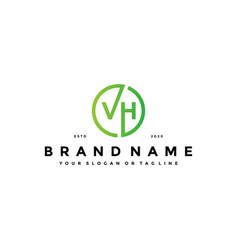 Letter vh logo design vector