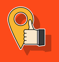 Like icon sticker web pointer in eps 10 vector