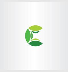 Logotype c letter logo icon green vector