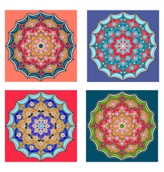 Mandalas collection Round Ornament Pattern vector