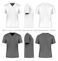 Men short sleeve v-neck t-shirt vector