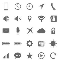 Mobile phone icons on white background vector