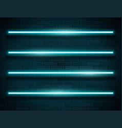 modern neon blue glowing lines banner on dark vector image