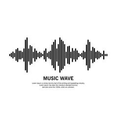 music wave symbol vector image