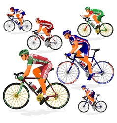 National cyclist 6 vector image