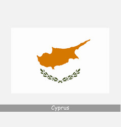 national flag cyprus cypriot country flag vector image