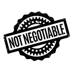 Not negotiable rubber stamp vector