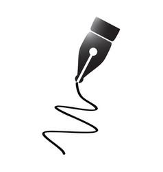 pen tip silhouette vector image
