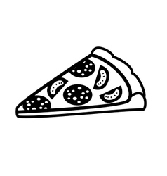 Piece of pizza vector