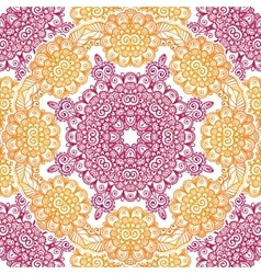 Pink and orange floral seamless pattern tile vector image