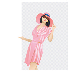 portrait fashionable woman beautiful young vector image