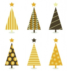 retro Christmas trees vector image