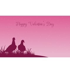 Scenery of valentine theme with dove vector