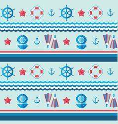 sea background design nautical swimming se vector image