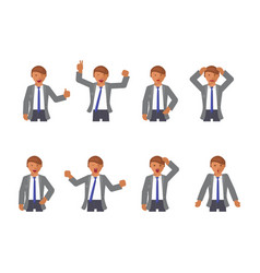 set of man expression vector image