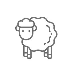 Sheep lamb line icon vector