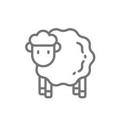 Sheep lamb line icon vector
