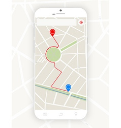 Smartphone with gps vector image