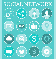 social network networking vector image