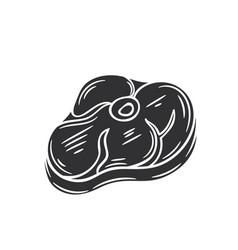 Steak glyph icon vector
