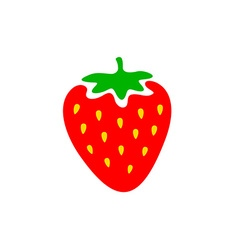 Strawberry colorful logo Strawberry cartoon style vector image