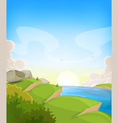 summer ocean landscape vector image