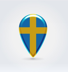 Swedish icon point for map vector image