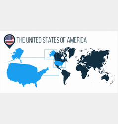 The united states america usa map located on a vector