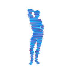 Thinking man silhouette a standing man idea vector