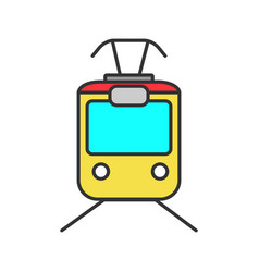 Tram color icon vector