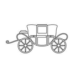 Vintage carriage iconoutline line vector