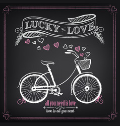 vintage valentines day or wedding vector image