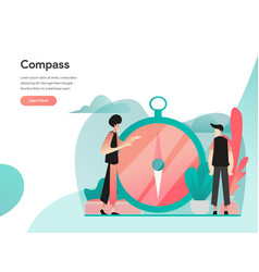 vision and compass concept modern flat design vector image