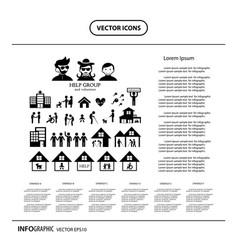 Volunteer for non profit social service info vector