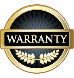 warranty gold icon vector image
