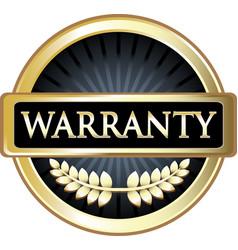 Warranty gold icon vector