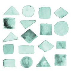 watercolor geometric design elements1 vector image