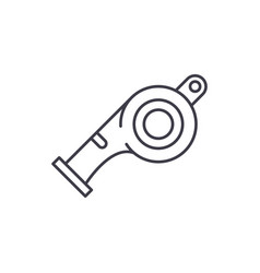 whistle line icon concept whistle linear vector image
