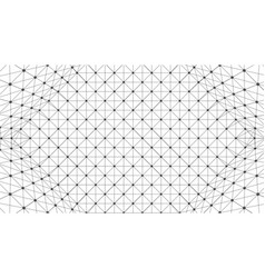 wireframe polygonal box vector image
