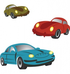 cartoon cars vector image vector image