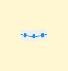 flat icon braces element of vector image vector image