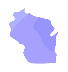 political map of wisconsin vector image